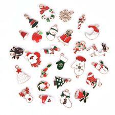 19Pcs/Set Enamel Alloy Mixed Christmas Charms Pendant DIY Craft Making\