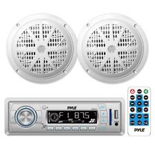 Pyle PLMRKT32WT In Dash Marine AM/FM PLL Tuning Radio with USB/SD/MMC Reader
