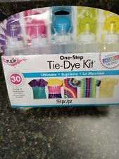 Tie-Dye Kit One Step Ultimate, Up to 30 projects, Tie Dye Shirts,Bags,etc... NEW