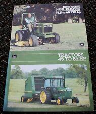 1984 John Deere Brochures 45 To 85 HP Tractor, Diesel Tractors 14.5 to 60 PTO HP