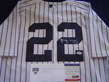 NEW YORK YANKEES JACOBY ELLSBURY GAME USED SIGNED AUGUST 2014 JERSEY STEINER PSA