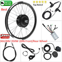 36V/48V 350W 20IN Front/Rear Wheel Electric Bicycle Motor E-Bike Conversion Kit