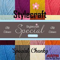 Stylecraft SPECIAL CHUNKY Knitting Premium Acrylic Crochet Yarn Wool 100g 144m
