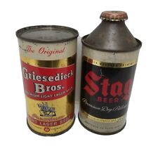 Stag Cone Top Beer Can And Griesedieck Flat Top Beer Can
