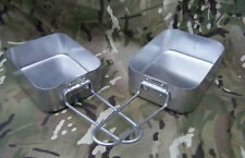 Genuine British Army Issue Surplus Mess Tins / Kit camping pans Great condition