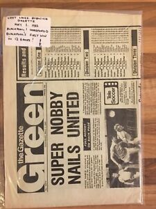 1982 Blackpool v Hereford, Blackpool's 1st Win in 12 Games  Football Newspaper