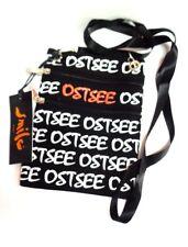 """Brustbeutel """" Ostsee""""  schwarz mit weiß roter Schrift"""