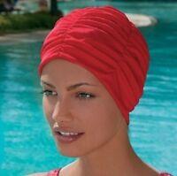 Fashy Damen Badehaube Badekappe Stoff mit Folieninnenhaube  #GB