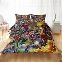 Great Transformers Vs Hordes 3D Quilt Duvet Doona Cover Set Pillow case Print