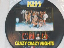 """KISS, """"CRAZY,CRAZY NIGHTS"""". 4 TRACK 12"""" PICTURE DISC E.P. EXCELLENT EXAMPLE !"""