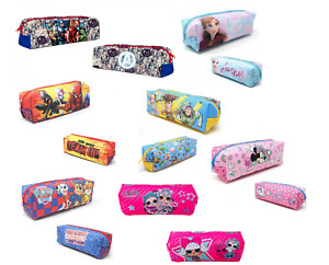 Kids Boys Girls Official Character Rectangular Pencil Case Back To School tube
