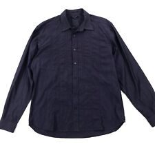 Ted Baker London Men's Dark Purple Sheen Long Sleeve Button Down Shirt Sz 4/ L