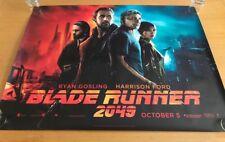Blade Runner 2049 original UK main Quad Poster (2017) Double sided VG+/FN