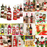 Xmas Wine Bottle Gift Bags Snowman Santa Claus Christmas Decoration Sequins Red