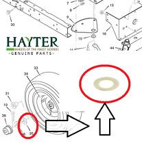 MURRAY Hayter Heritage 1330 13-30 Ruota Anteriore Rondella interno 17X195MA 324