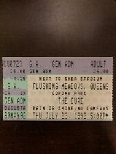 THE CURE THE SWANS TICKET STUB JULY 23 1992