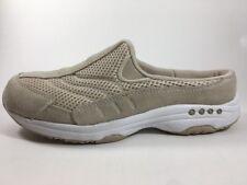 Easy Spirit Traveltime Mules Shoes Women's 7.5 M Beige Natural Tan Slip-On