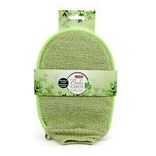 Titania Bade Massage Handschuh Bambus Hanf grün