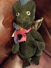 "Green Dragon named Kendall by Ad Bears 13"" Artist-Angela Donnelly -jointed"