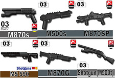 Tactical Shotgun Pack of Army weapons designed for LEGO® minifigures