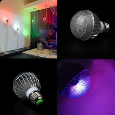 LED RGB E27 15W Light Colorful Lamp Bulb 85-265V + Remote Home Party Decoration