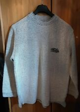 Weird Fish Mens Thick Knit Sweatshirt Jumper Oatmeal Size L Winter
