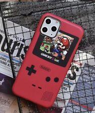Handyhülle Iphone X Case Bumper Cover rot Game Boy Optik