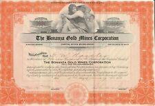 The Bonanza Gold Mines Corporation - Stock Certificate 1932 Scripophily