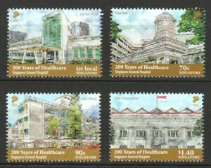 SINGAPORE 2021 200 YEARS OF HEALTHCARE (HOSPITALS) COMP. SET OF 4 STAMPS IN MINT
