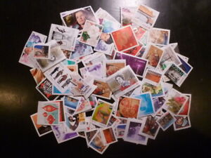 "CANADA, 100 assorted used, uncancelled, ""P"" stamps"