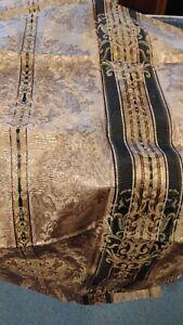 """ Croscill "" Winslow black gold beige stripe fabric 3.3 yards New"
