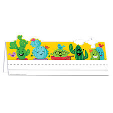 EU 843764 A Sharp Bunch Cactus Character Name Plates Classroom Decorations