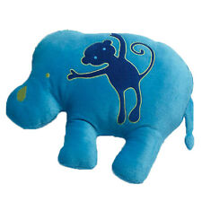 Jiggle and Giggle Animal Patch Elephant Embroidered Shaped Filled Cushion