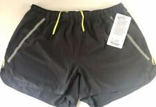 "NWT LULULEMON Mens LIGHT AS AIR SHORT w Liner 4"" size L Cool Max Reflective Gray"