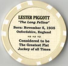 LESTER PIGGOTT  JOCKEY HORSE RACING COLLECTOR CHIP