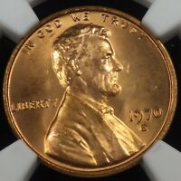 1970-S Large Date Lincoln Cent NGC graded MS 66 RD