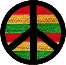 9951 Peace Sign Symbol Reggae Rasta Rastafari Political 60s Hippie Iron On Patch