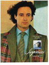 PUBLICITE ADVERTISING 054 1979  NINA RICCI   parfum homme SIGNORICCI