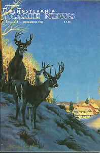 Pennsylvania Game News December 1997 cover art by Taylor Oughton white tail buck