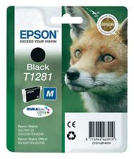 ORIGINAL DRUCKER PATRONE EPSON T1281 BLACK SCHWARZ BX305F S22 TINTE PATRONE