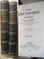 Rossi Cours d economie politique 1843 2e edition