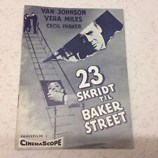 23 Paces to Baker Street Van Johnson Miles 1956 Danish Original Movie Program