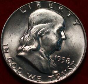 Uncirculated 1958-D Denver Mint Silver Franklin Half