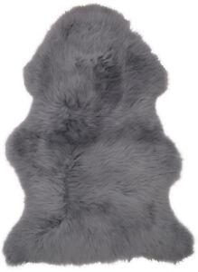 Lambland Real Genuine Sheepskin Rug Luxury Soft Slate Grey Extra Large