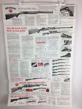 1981 Ruger Poster Catalog Dealer Store Display Single Action Revolvers