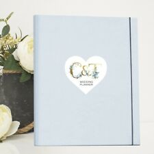 A4 Luxury Wedding Planner/Organiser Personalised with Initialled Plaque