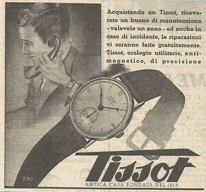 W6715 Watch Tissot - Advertising 1941