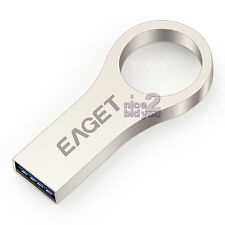 EAGET U66 USB 3.0 64GB Metal Flash Drive Waterproof Media Storage Stick Key Ring