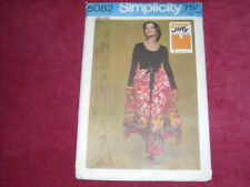 🌹1972 SIMPLICITY #5082-LADIES SUPER JIFFY WRAP & TIE PANTSKIRT PATTERN  S-LG FF
