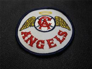 VERY RARE 1960s FIRST CALIFORNIA ANGELS GOLD HALO WINGS CA BASEBALL PATCH MLB
